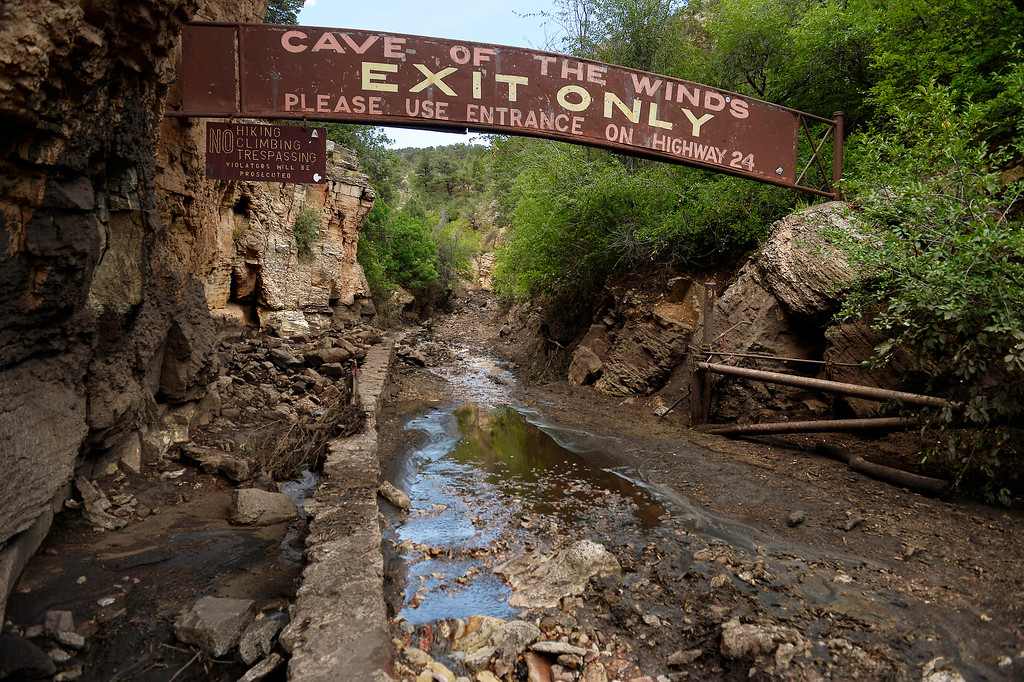 . Manitou Springs, CO. - July 02: Water coursed through this exit during a flash flood that washed through houses, streets and businesses after a downpour over the Waldo Canyon burn scar in El Paso County July 02, 2013 Manitou Springs, Colorado. (Photo By Joe Amon/The Denver Post)