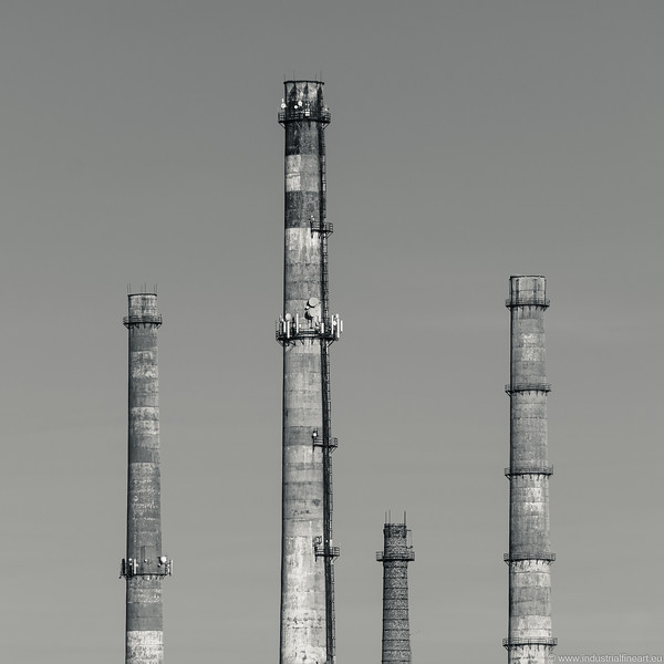 Chimneys of a cement factory
