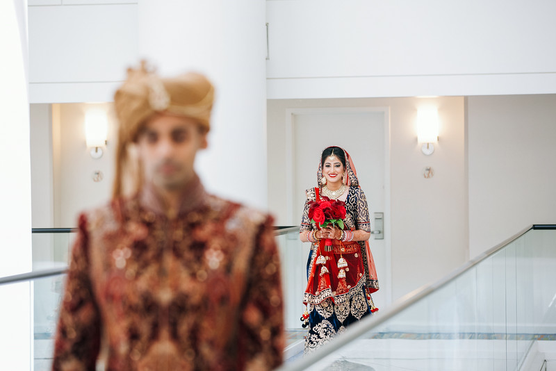 Le Cape Weddings - Indian Wedding - Day 4 - Megan and Karthik First Look 11.jpg