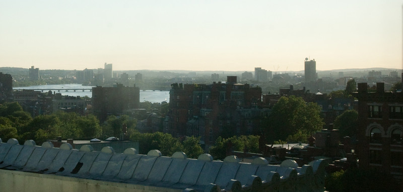 Day 6 - The view across the river from our hotel room near Boston Common