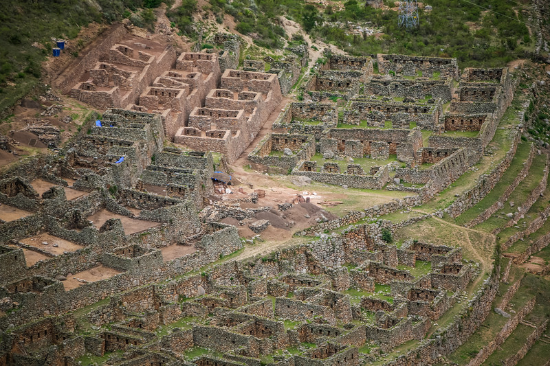 Elevated view of Machu Picchu - Cusco Region - Peru