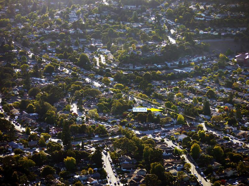 Our neighborhood in San Carlos, CA.