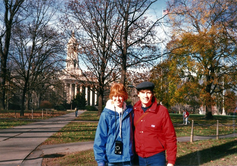 Mark and his girlfriend at Penn State.