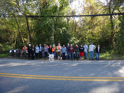 10.27.13 Stream Cleanup in Holly Creek in Linthicum Heights