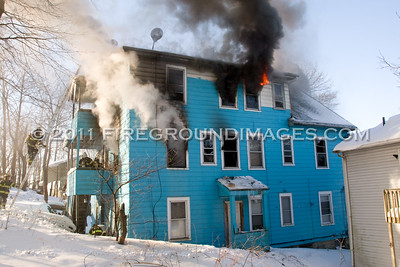 Hawkins St. Fire (Derby, CT) 1/16/11