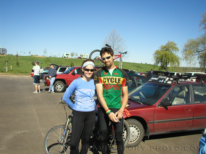 One of my first times meeting CVO. 2005 Moose's Tooth Duathalon.