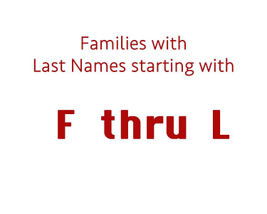 Family Last Name  F thru L