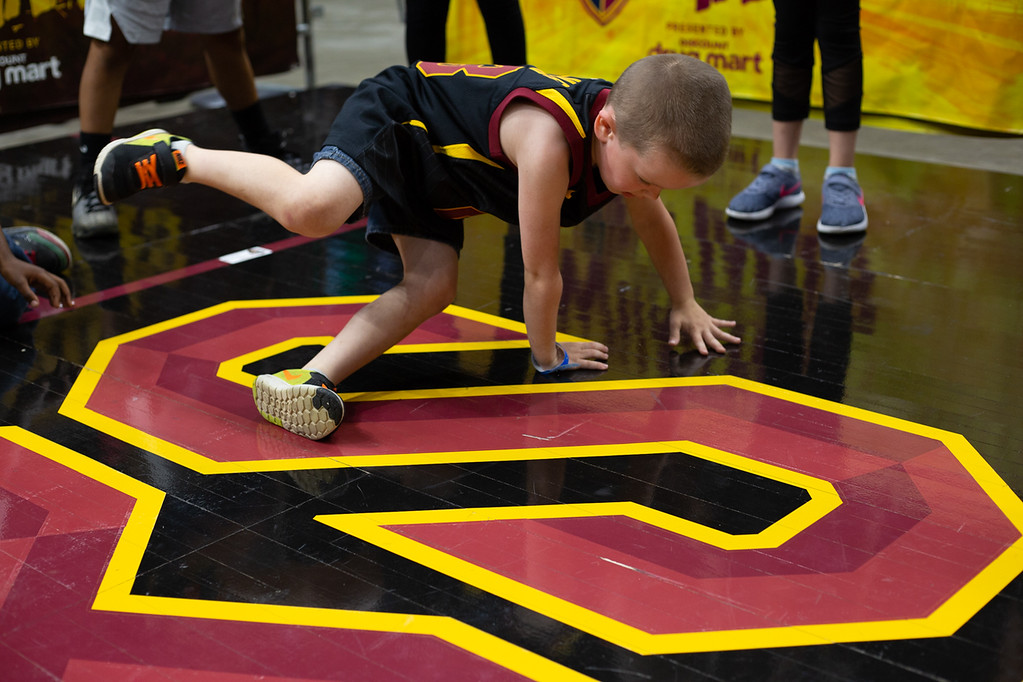 . Michael Johnson - The News-Herald Andrew Sermak break dances at the game 5 watch party at the Quicken Loans Arena on May 23, 2018