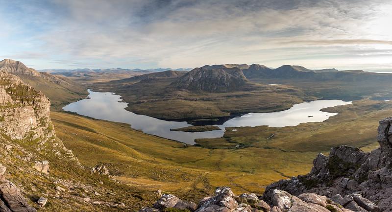 Loch Lurgainn and the mountains of Coigach