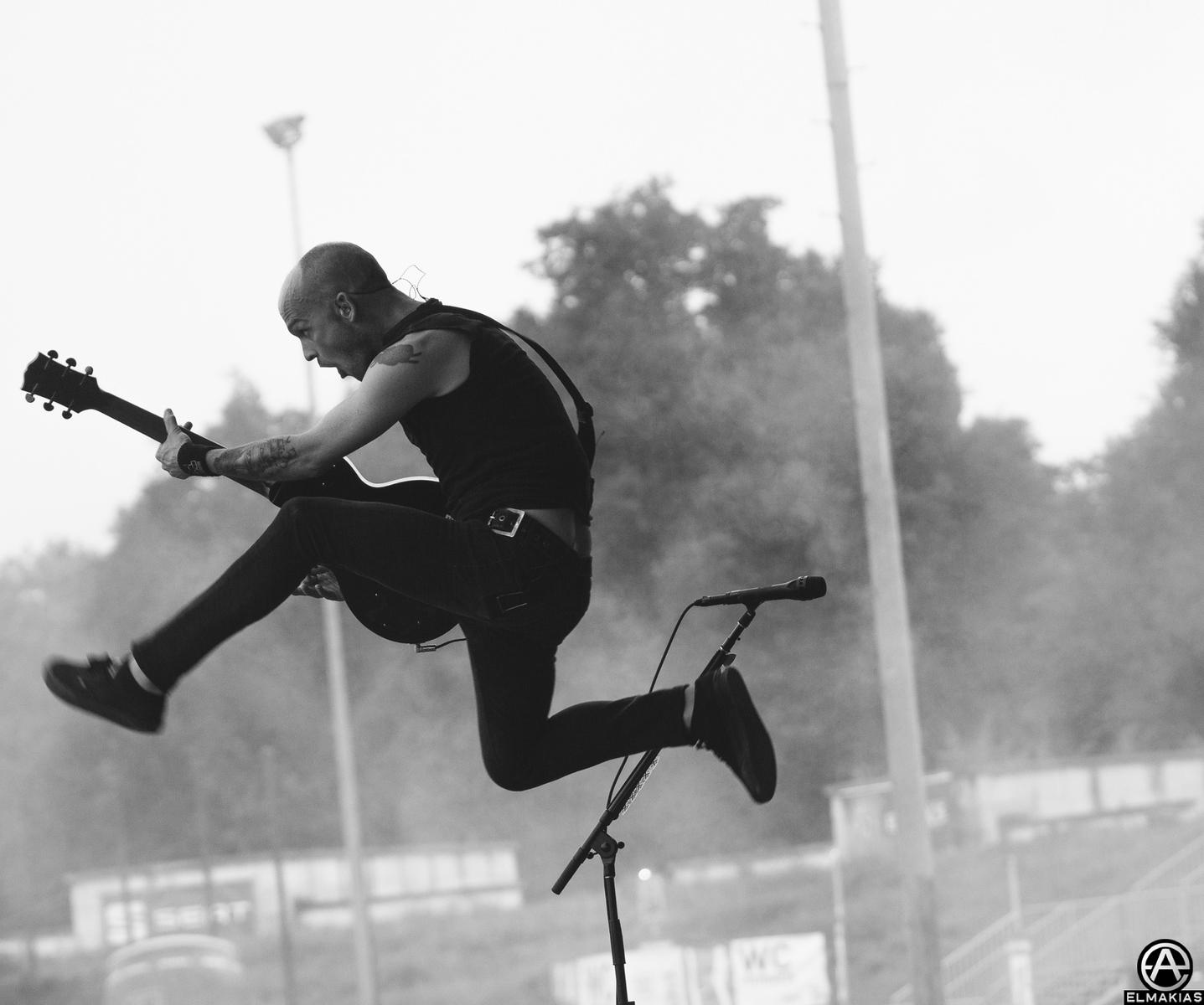 Zach Blair of Rise Against at Rock IM Park 2015 in Mendig, Germany - European Festivals