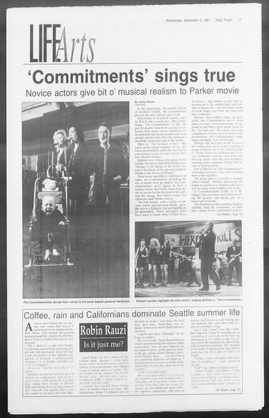 Daily Trojan, Vol. 116, No. 2, September 04, 1991