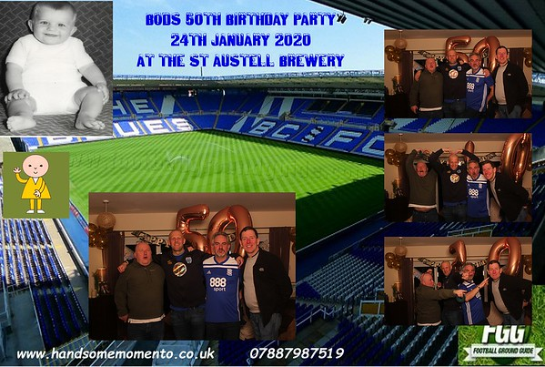 Bods 50th Birthday Party at The Hicks Bar in The St Austell Brewery 24-01-20