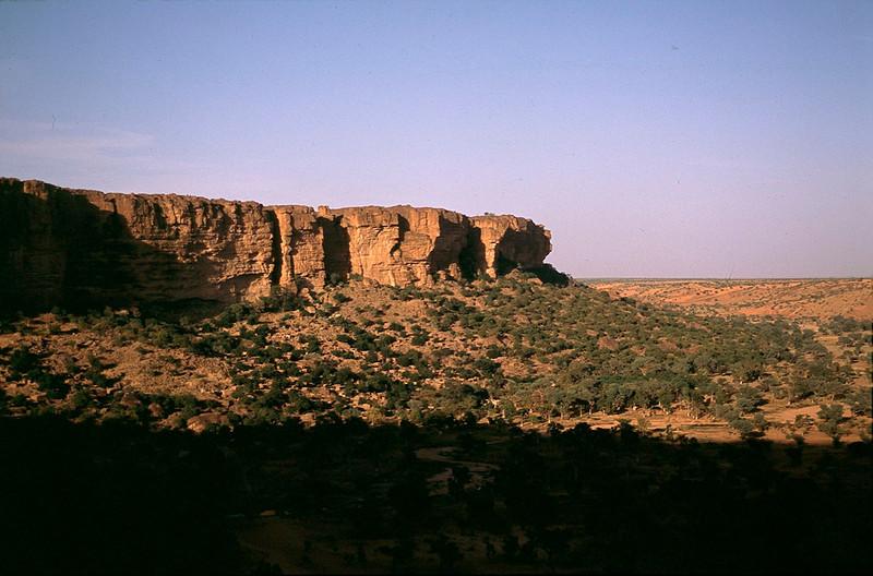 escarpment over Dogon country
