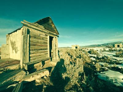 Pseudo-Polaroid Cowboy Landscapes