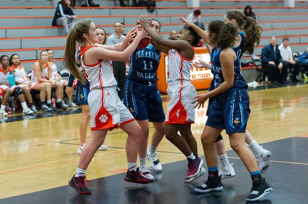 Roseville High School Varsity Girls Basketball vs Pleasant Valley 12-6-18