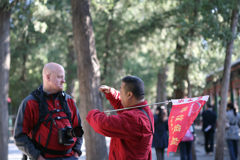 Craig and Charlie, our local guide, Beijing, China