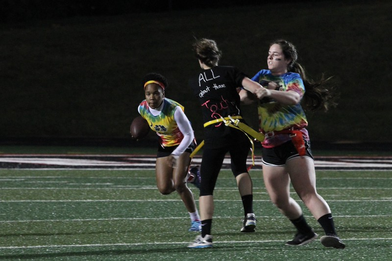The 2015 homecoming powderpuff football game.