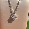 1.11ct Pear Shape Diamond Pendant GIA E VVS2 32