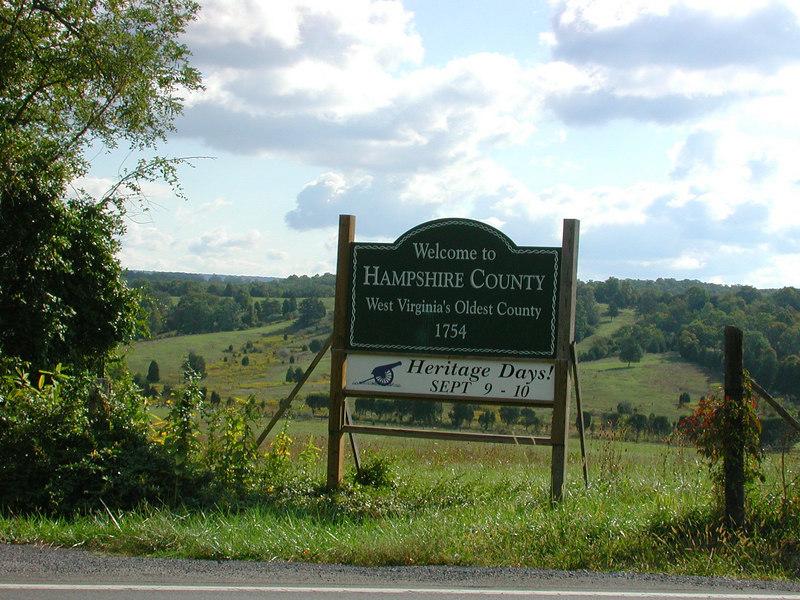 Entering Hampshire County near Romney West Virginia.