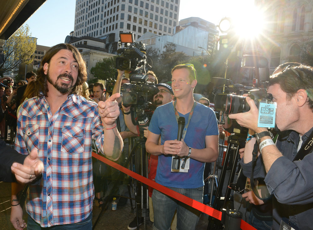 """. Musician and director Dave Grohl arrives at the screening of \""""Sound City\"""" during the 2013 SXSW Music, Film + Interactive Festival at the Paramount Theatre on March 13, 2013 in Austin, Texas.  (Photo by Michael Buckner/Getty Images for SXSW)"""