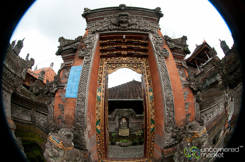 Entering a Balinese Family Courtyard  - Ubud, Bali