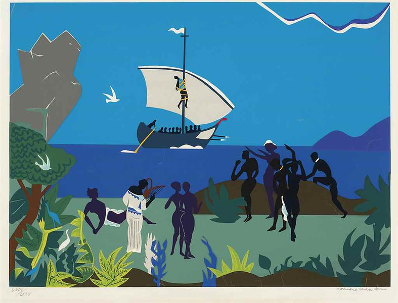 "Romare Bearden, ""Sirens' Song,"" 1977"