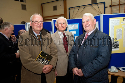 St Colman's College hosted the launch of the MacRory Cup book on Monday last,Kevin Mussen, Dr Martin Walsh,Tom Keenan.RS1448707