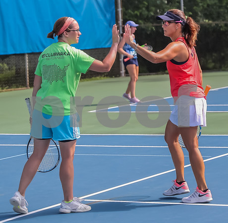 On-Court High Five and Encouragement