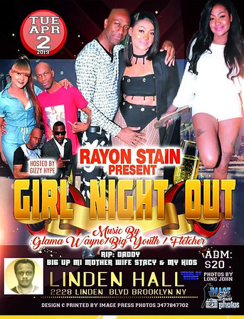 "RAYON STAIN ""GIRLZ NIGHT OUT 2019""(15)"