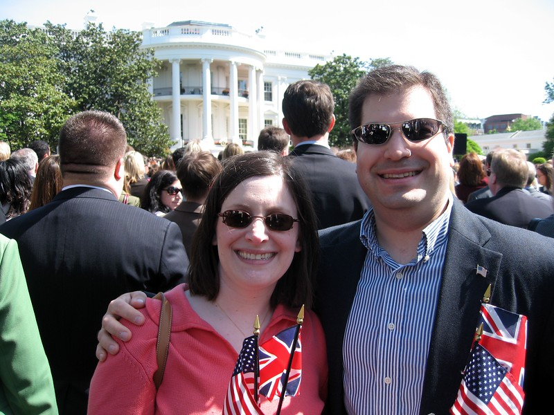 Debbie and Craig in front of the White House