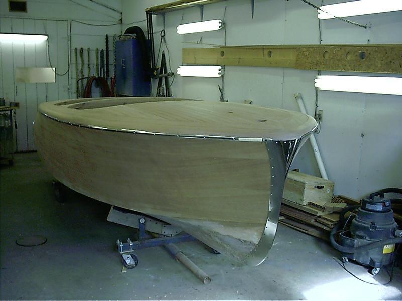 Starboard side molding installed.