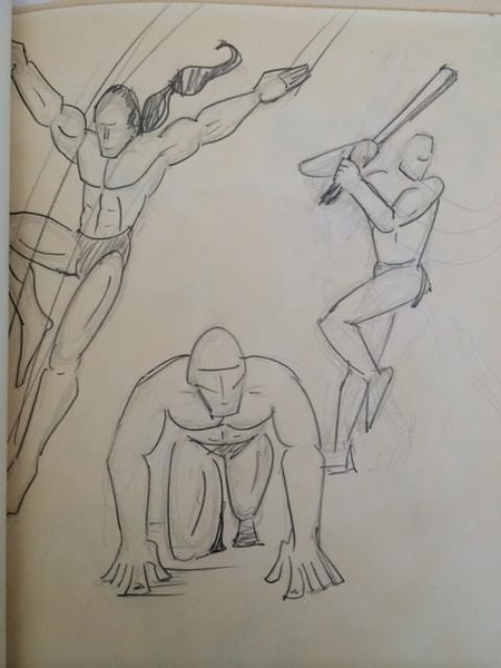 "Alex Ruiz 1993 ""Crappy figure drawing: This gem was from my submission portfolio to Cal Arts. Needless to say, I didn't get in. In retrospect this was valuable lesson for me: get damn good at figure drawing or else I wasn't going anywhere!"""