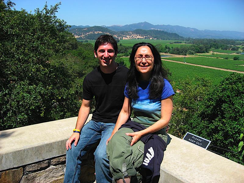 Mom and I at Silverado Vineyards