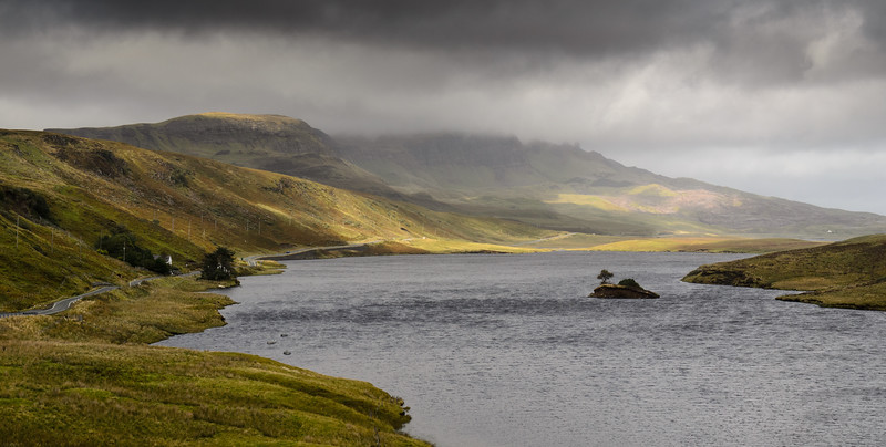 Storr Lochs and the mountains of Skye