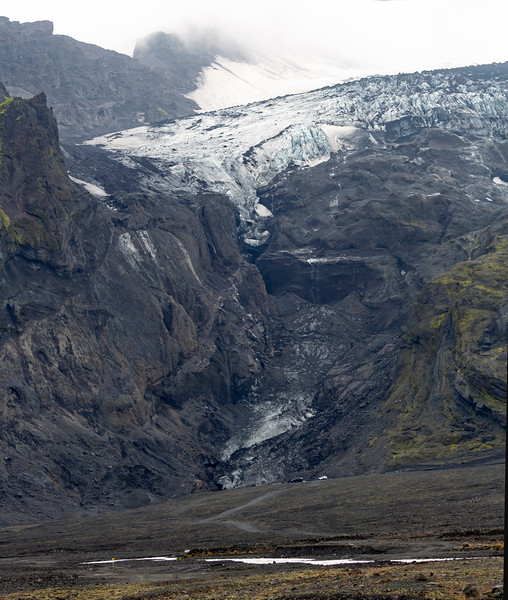 Another view of the Eyjafjallajökull glacier