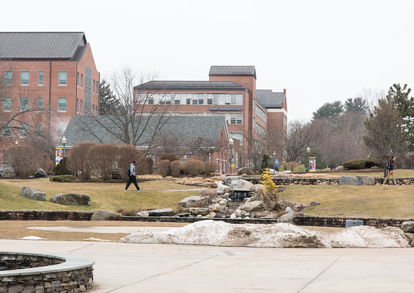 02/07/19 Wesley Bunnell | Staff CCSU's Barnard Hall, center background, is scheduled for a 9,500 square foot addition as well as renovations.