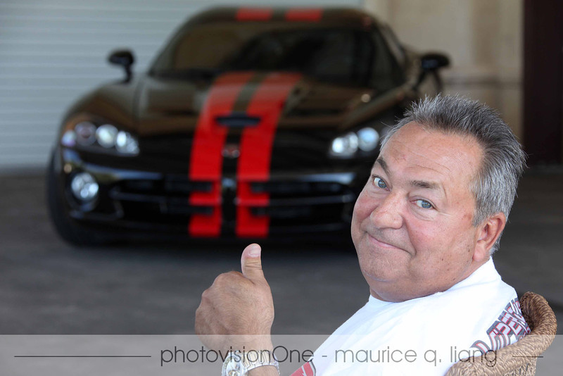 Rocky gives thumbs up to Glen's and Janis' new Viper.