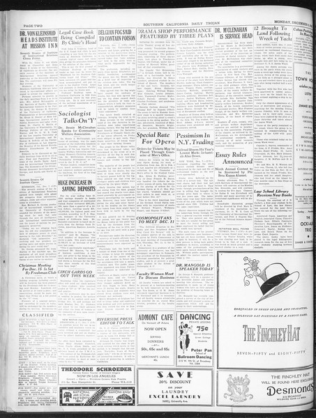 Daily Trojan, Vol. 22, No. 58, December 08, 1930