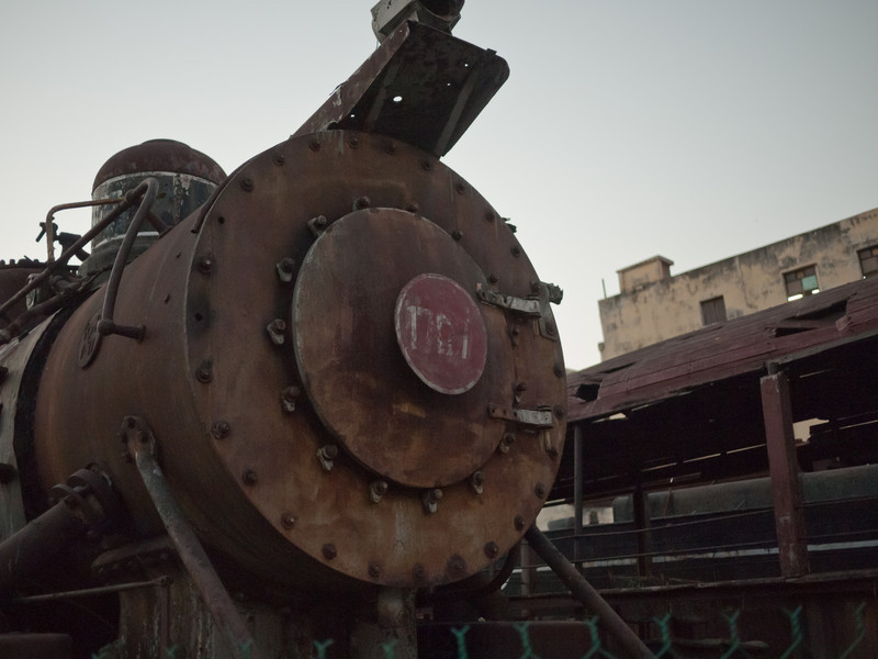 An old train in an area near the Capital building