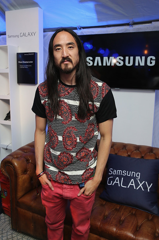 . CHICAGO, IL - AUGUST 02:  Steve Aoki attends the Samsung Galaxy Artist Lounge at Lollapalooza  on August 2, 2013 in Chicago City.  (Photo by Neilson Barnard/Getty Images for Samsung Galaxy)