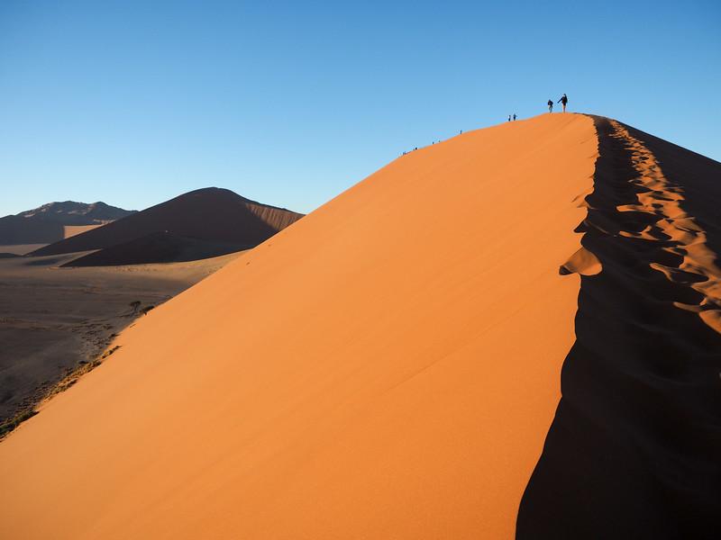 Climbing Dune 45 in Namibia