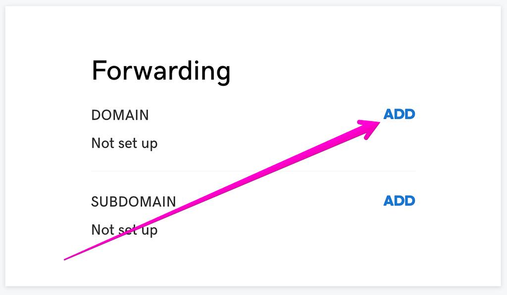 Domain Forwarding on GoDaddy for SmugMug