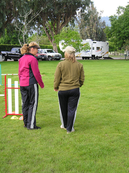 Wendy Pape teaching Wendy dog agility crosses