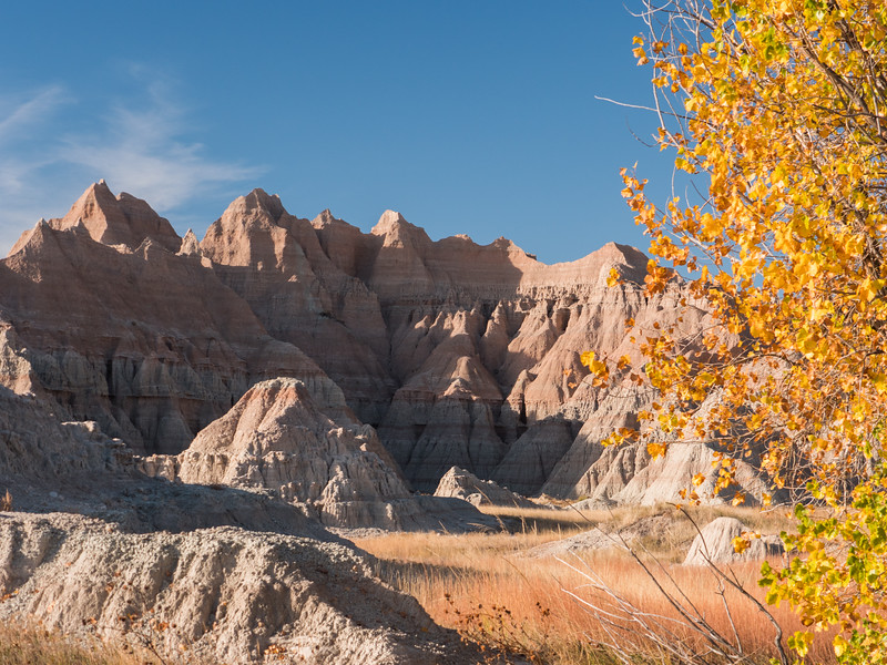 Red Blue Yellow on the Badlands Loop Road