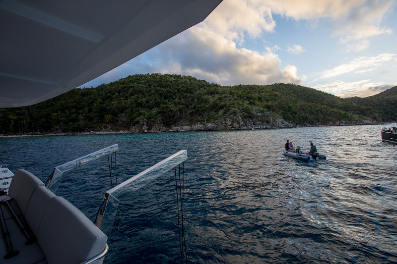 Staying aboard as they head out.  The mooring balls were pretty close and I wanted to see how the winds might shift.