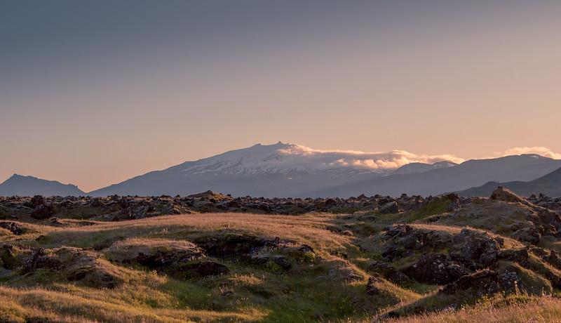 Lava Field and Snæfellsjökull