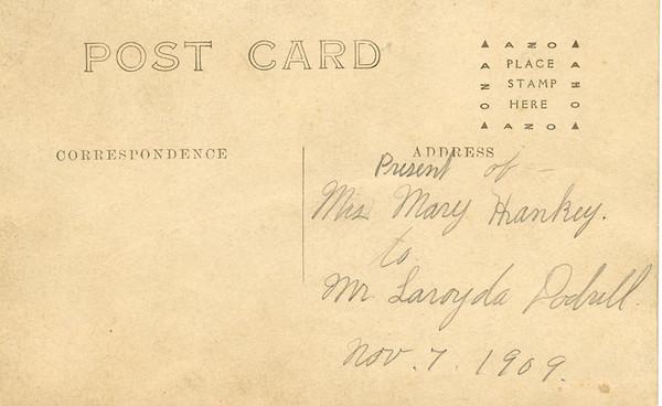 Aunt Mary Hankee postcard address.jpg