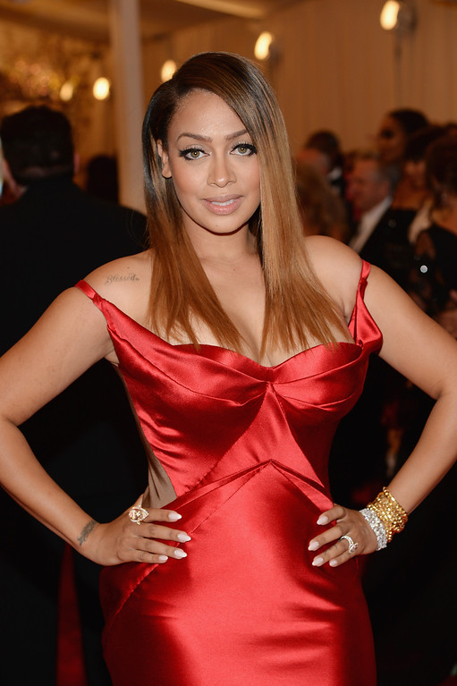 """. La La Anthony attends the Costume Institute Gala for the \""""PUNK: Chaos to Couture\"""" exhibition at the Metropolitan Museum of Art on May 6, 2013 in New York City.  (Photo by Dimitrios Kambouris/Getty Images)"""