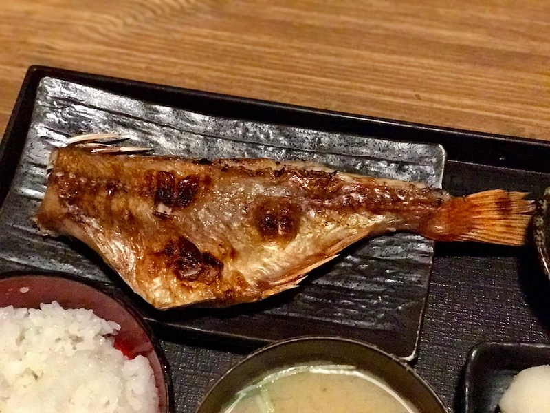 Grilled dried rockfish.