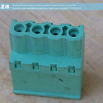 SKU: AE-BLOCK/508/S4, Green Connector 5.08mm Pitch Straight Side Feed 4 Way PCB Cable Terminal Block, 4Pin Plug in Screw